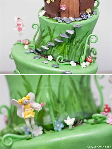 Kids Playing In Backyard Fairy Birthday Cake