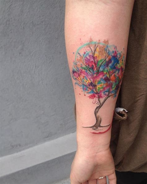 watercolor tree tattoo designs 90 watercolor ideas that turn skin into canvas