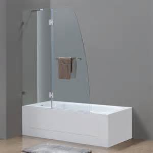 soleil completely frameless hinge tub door platinum bath