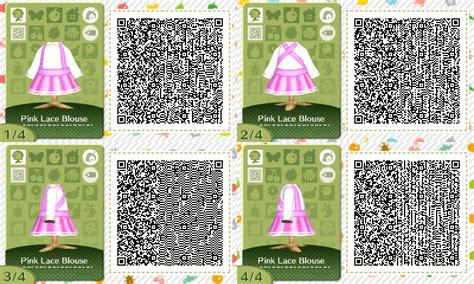acnl pink wallpaper qr pink lacy blouse acnl qr code by pumpk1ng on deviantart