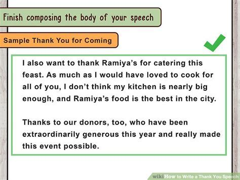 How to Write a Thank You Speech (with Pictures)   wikiHow