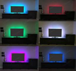 pc led beleuchtung rgb led usb colour changing lighting kit 50cm tv