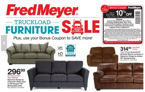 fred meyer truckload furniture event couches    pc dining set