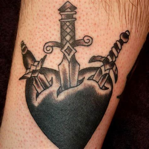 heart with dagger tattoo designs 41 knife and dagger tattoos ideas