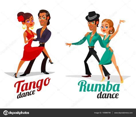 imagenes animadas bailando dibujos animados de vector de una pareja bailando tango y