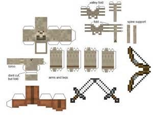 minecraft skeleton template papercraft skeleton warrior primitive mobs mod