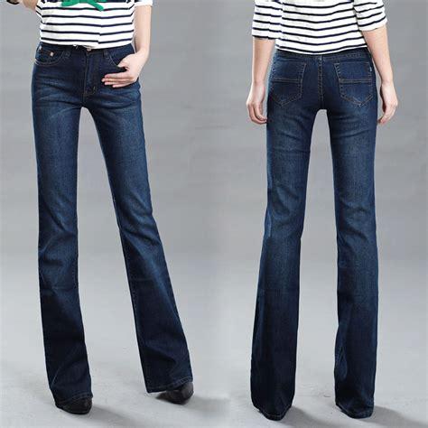 comfortable jeans womens aliexpress com buy women s slim mid waist boot cut jeans