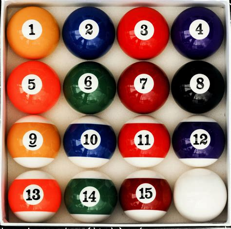 number style pool table billiard set reg size and