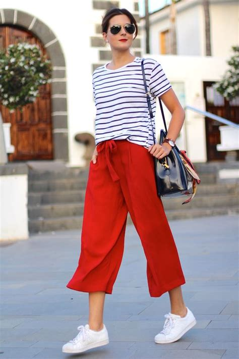 Cut Culottes Kulot Wanita Zara 47 style tips about how to wear culottes in summer