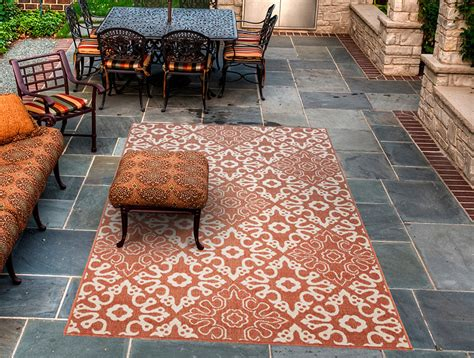 Rust Colored Rugs by Rust Colored Indoor Outdoor Rug Decoist