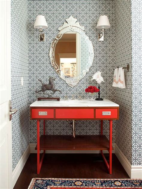 small bathroom wallpaper ideas wallpaper for the powder room the inspired room
