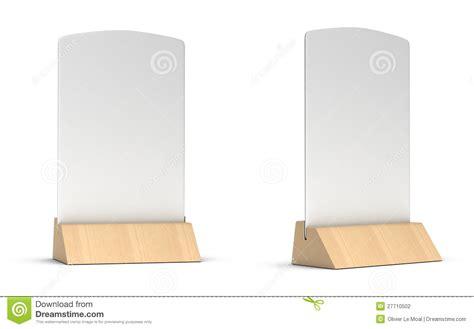 blank table tent stock illustration illustration of