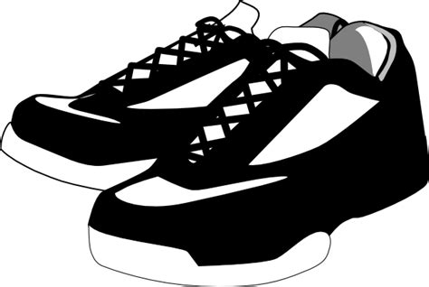 Kotak Sepatu Plastik Box Shoes Transparant black and white shoes tennis clip at clker vector clip royalty free