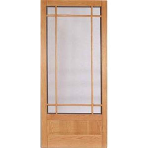 Wooden Screen Doors At Home Depot by Columbia Emerson Kingston Wood Screen Door In Oak Fir