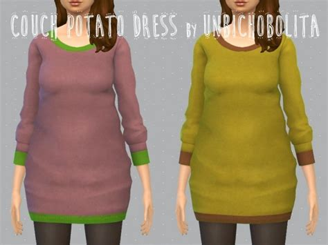 couch clothing couch potato dress at un bichobolita 187 sims 4 updates