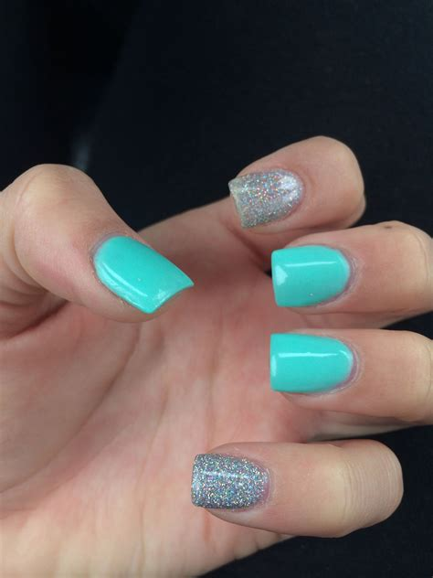 teal color nails teal acrylic nails acrylic nails nails