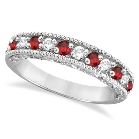 Ruby 4 59 Ct ruby ring anniversary band 14k white gold 0