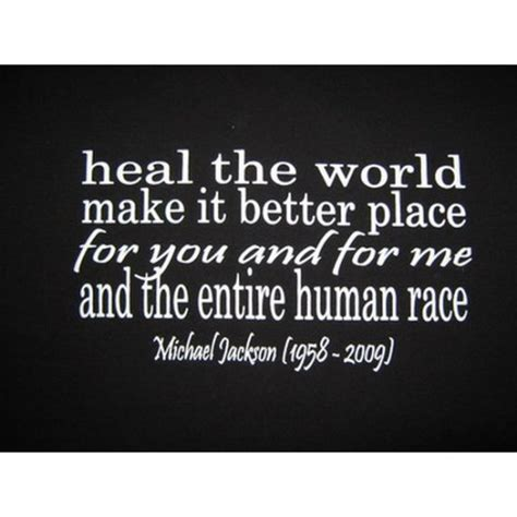 make it a better place michael jackson heal the world make it better place michael jackson
