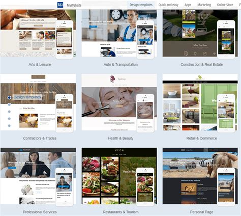 1and1 Website Builder 2018 Review Why 4 8 Stars 1and1 Website Builder Templates