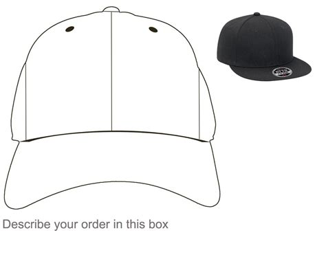 hat outline template best photos of fitted hat template snapback hat design