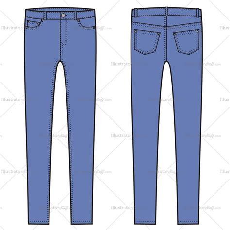 jeans pattern ai women s skinny jean pants fashion flat template