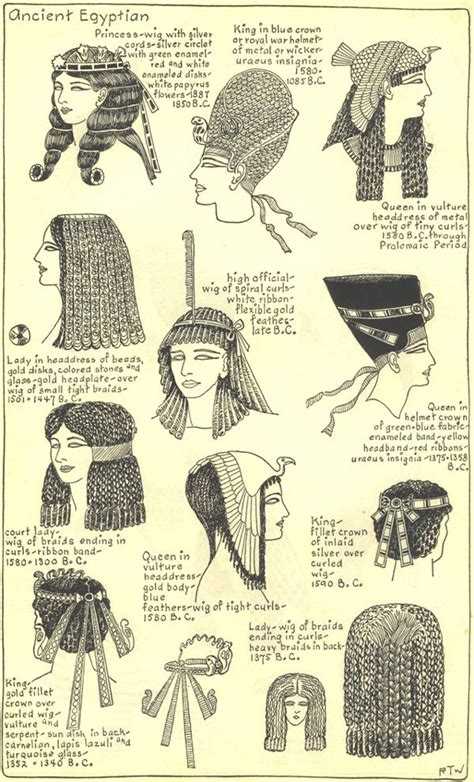 Information On Egyptain Hairstlyes For Men And Women | ancient egyptian hairstyles plate 2 ancient