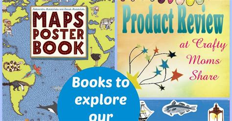 maps poster book 1783702036 crafty moms share books to explore our world maps