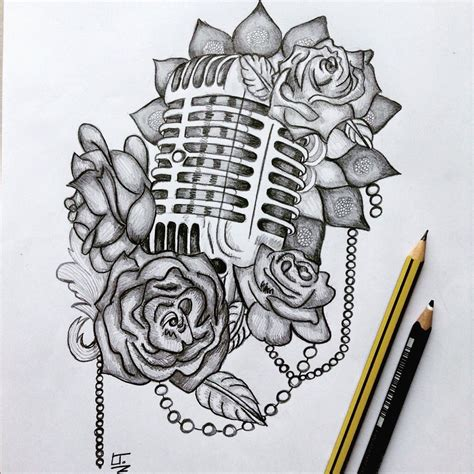 microphone and roses tattoo microphone and roses july 2015 sleeves