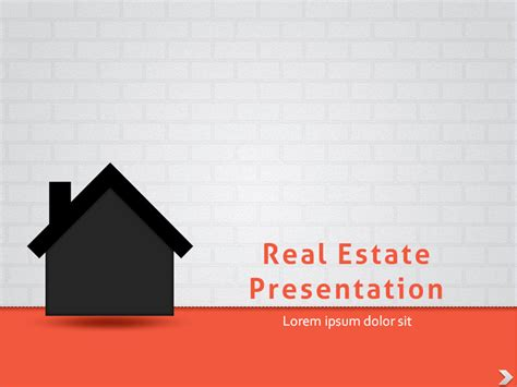 real estate powerpoint presentation template by