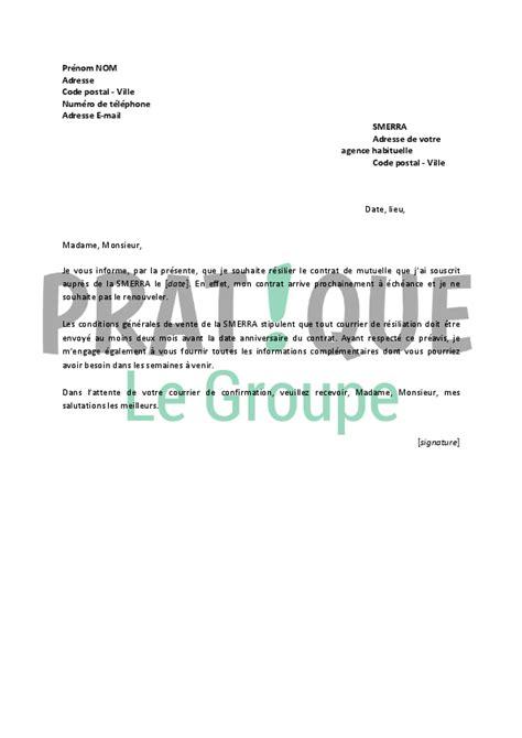 Lettre De Resiliation Mobile Cause Deces modele resiliation gaz document
