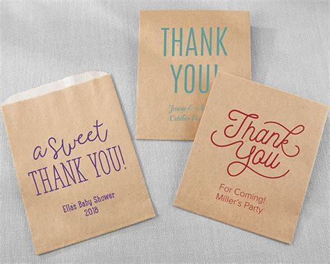 thank you letter for wedding gift bags personalized thank you kraft goodie bags set of 12 my