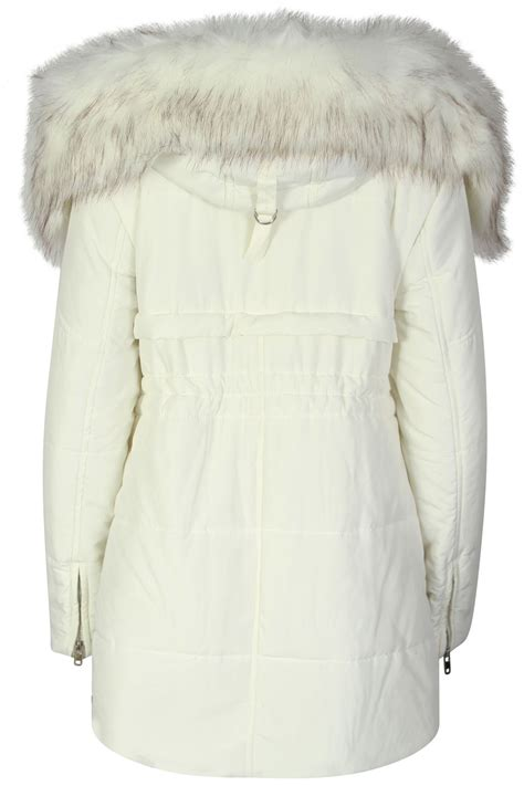 Pocket Parka Wd Var Outerwear Wanita womens faux fur trim hooded with pockets lined winter