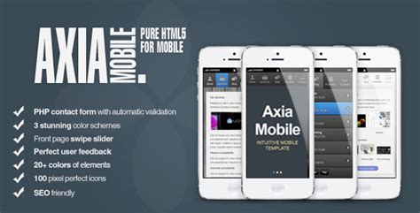 html template mobile 50 html5 mobile website templates sixthlifesixthlife