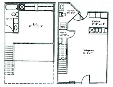 1 bedroom with loft floor plans features and layouts woodsview apartments at park place