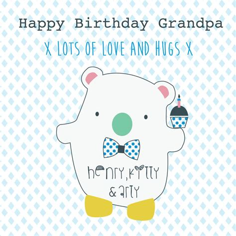 printable birthday cards for grandpa happy birthday grandpa personalised greeting card by