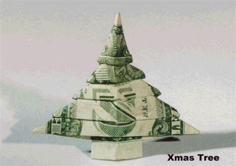 dollar bill origami christmas tree oragami pinterest