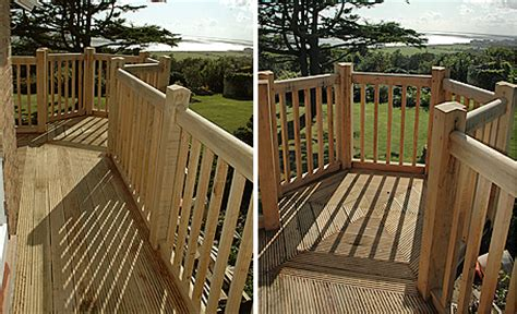 hardwood garden decking   orlestone oak mill