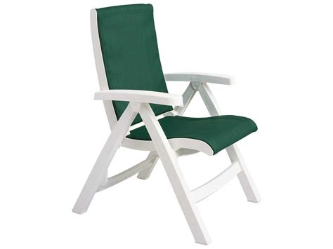 Grosfillex Lounge Chairs by Grosfillex Jersey Midback Resin Folding Sling Lounge Chair