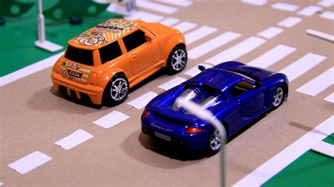 toy car cars race crashes with toy racing cars for kids youtube