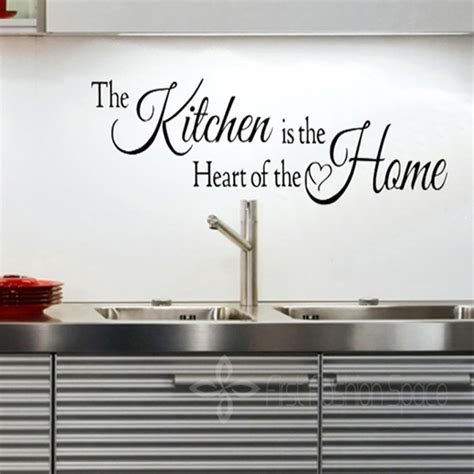 kitchen is the heart of the home diy vinyl removable kitchen is the heart of the home wall