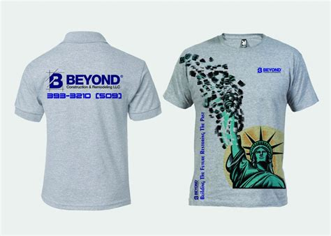 design a shirt llc bold serious t shirt design for beyond construction