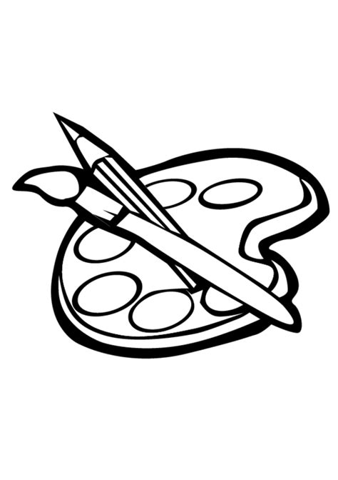 coloring pages to paint colouring pages of a paint brush clipart best