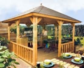 Wooden Gazebo With Tiled Roof by Wooden Gazebo 326 Hipped Roof Felt Tiles
