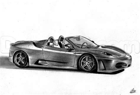 ferrari drawing how to draw a ferrari f430 spider step by step cars
