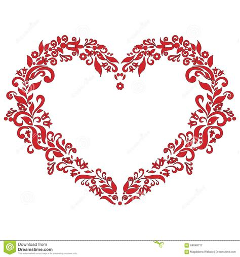 love shape pattern vector embroidery inspired love heart shape pattern in red with