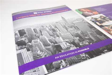 Nyu Mba Part Time Application by Nyu School Of Business Langone Mba Brochure The