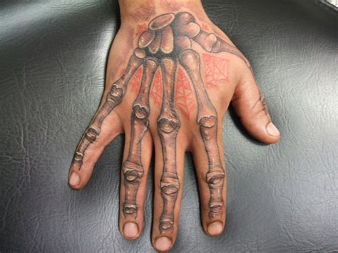 bone hand tattoo skeleton by bodygraffixtattoo on deviantart