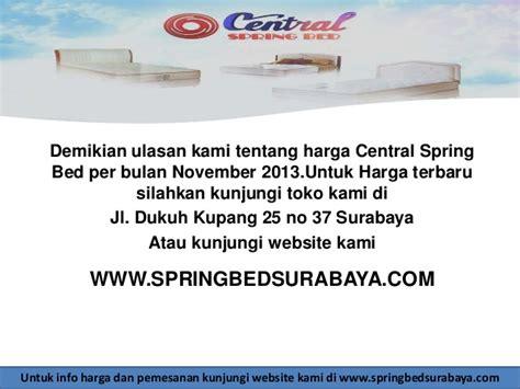 Kasur Per Central harga bed central surabaya