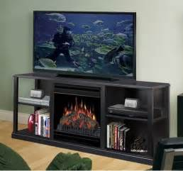 61 quot cornet tv stand with electric fireplace modern