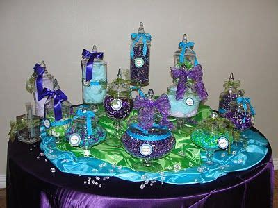 purple and blue torquoise weddings reception pop
